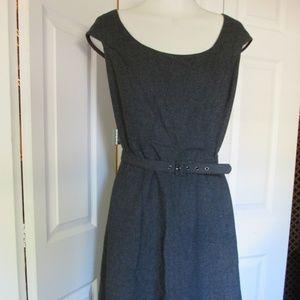 Issac Mizrahi Grey Wool Blend Dress Size 14